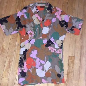 Missoni Artsy Flower Tunic Dress 100%Silk Sz 10